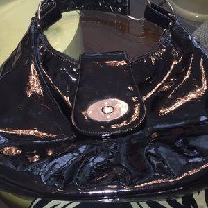 Black patent leather bag